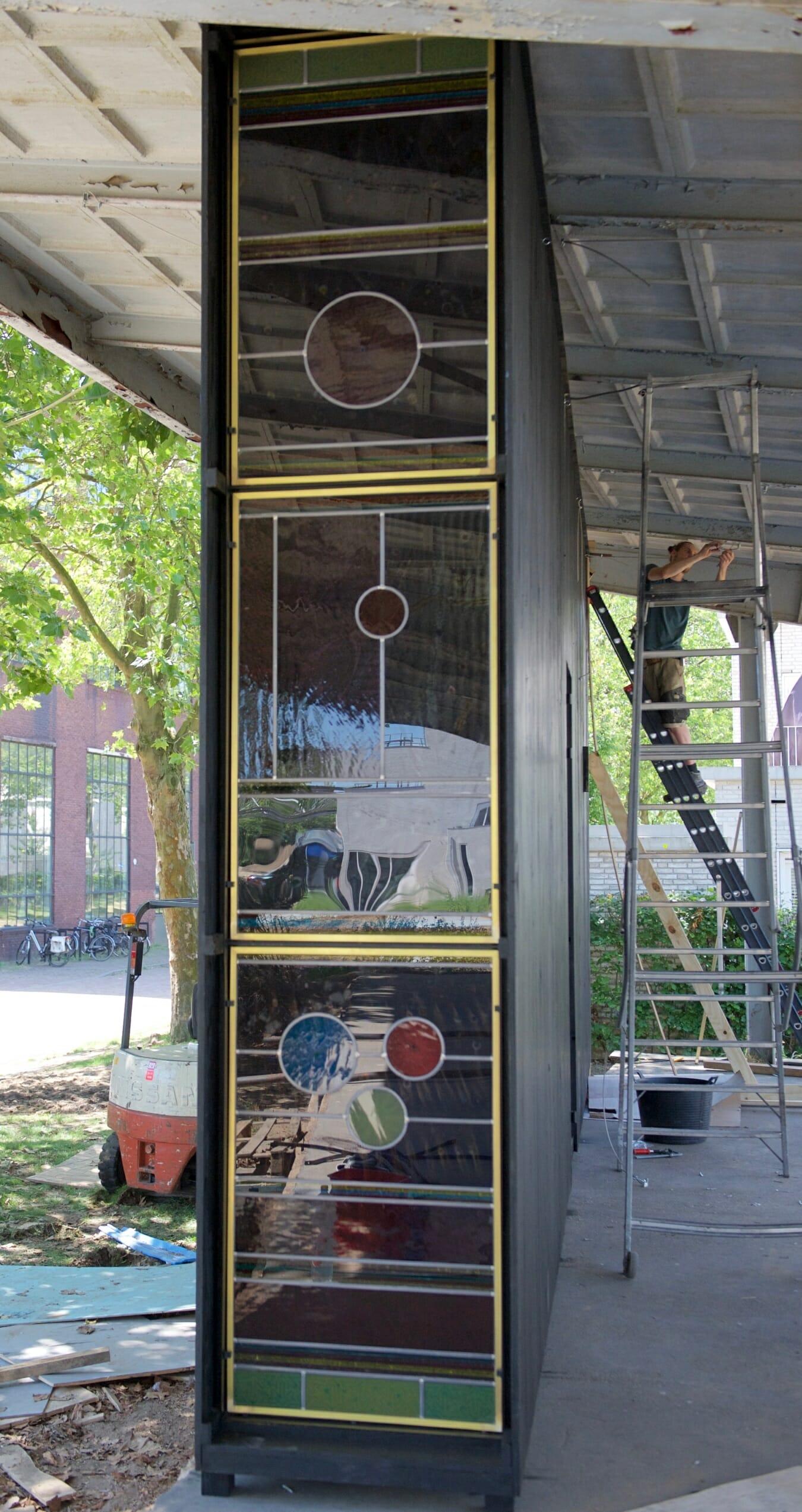 Exterieur Stilte corridor, i.s.m. Piet Hein Eek Eindhoven, 2017