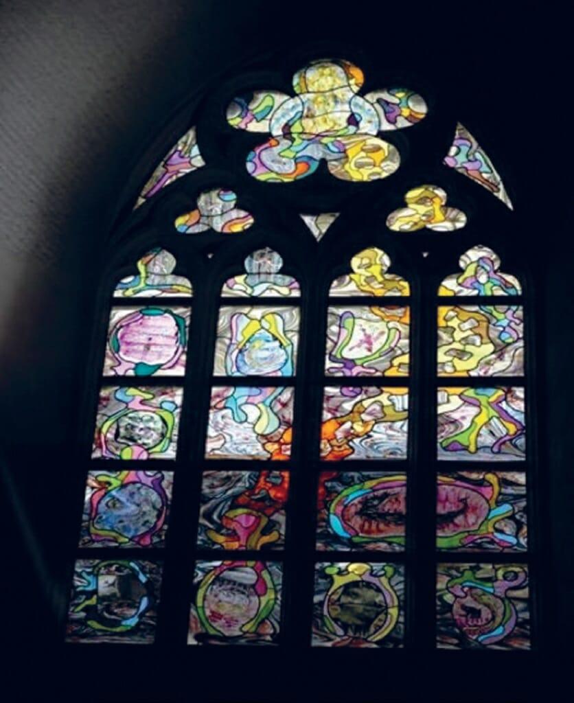 <p>Afb. 1 Marc Mulders. <em>Het laatste oordeel.</em> 2007. Glas-in-lood. St. Jans Kathedraal, Den Bosch.</p>