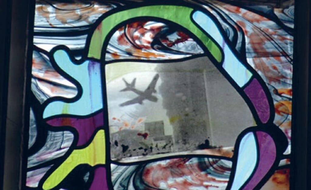 <p>Afb. 2 Marc Mulders. <em>Het laatste oordeel</em> (detail). 2007. Glas-in-lood. St. Jans Kathedraal, Den Bosch.</p>