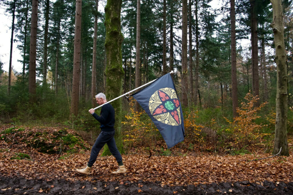 <p>THE GREEN MAN vlag</p>