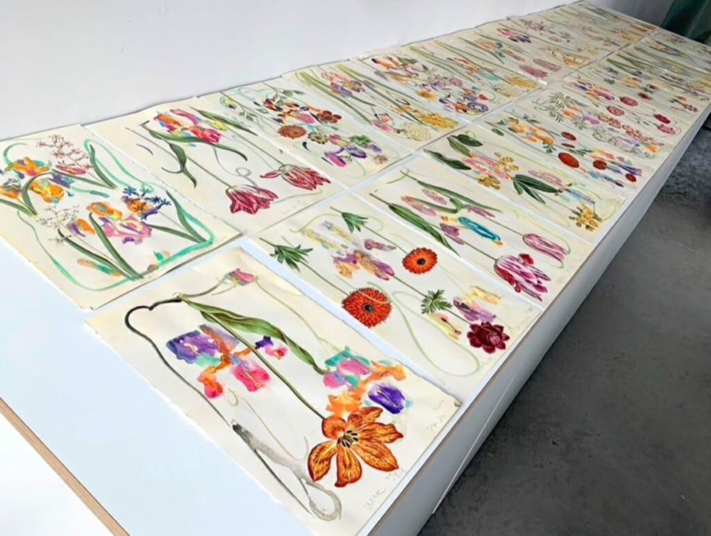 <p>De serie gemaakte aquarellen voor de Special Edition</p>